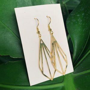 Gold Diamond shaped Earring